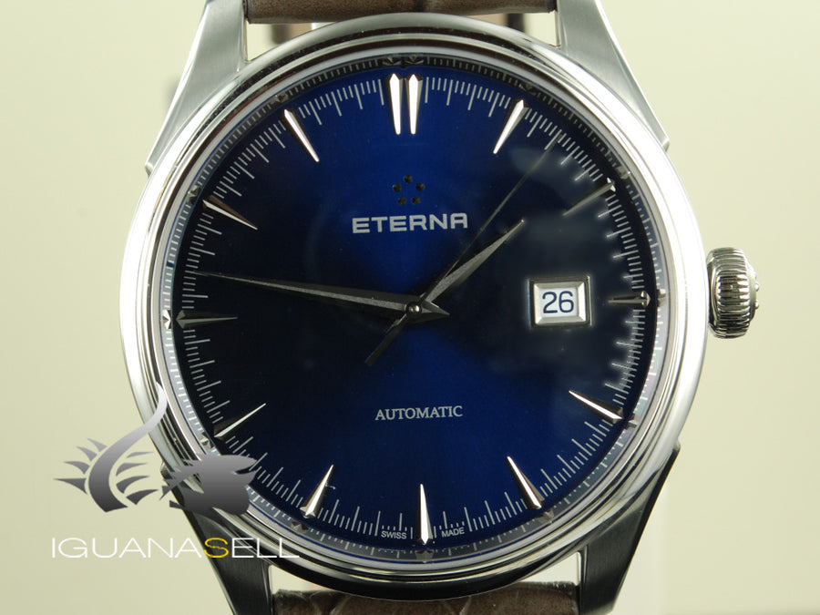 Eterna Eternity Legacy Date Automatic Watch, SW 300-1, 41,5mm, 5 atm, Blue