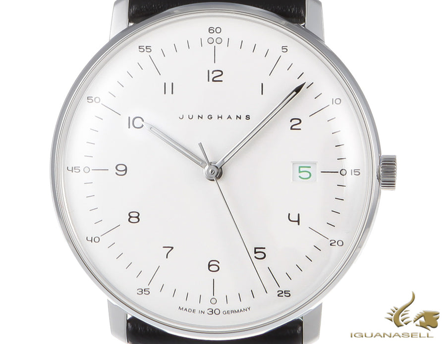 Junghans Max Bill Edition 2018 Quartz Watch, 38mm, Silver/Green, 041/4811.00