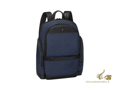 Montblanc Nightflight Backpack, Nylon, Blue, Laptop compartment, Zip, 124147