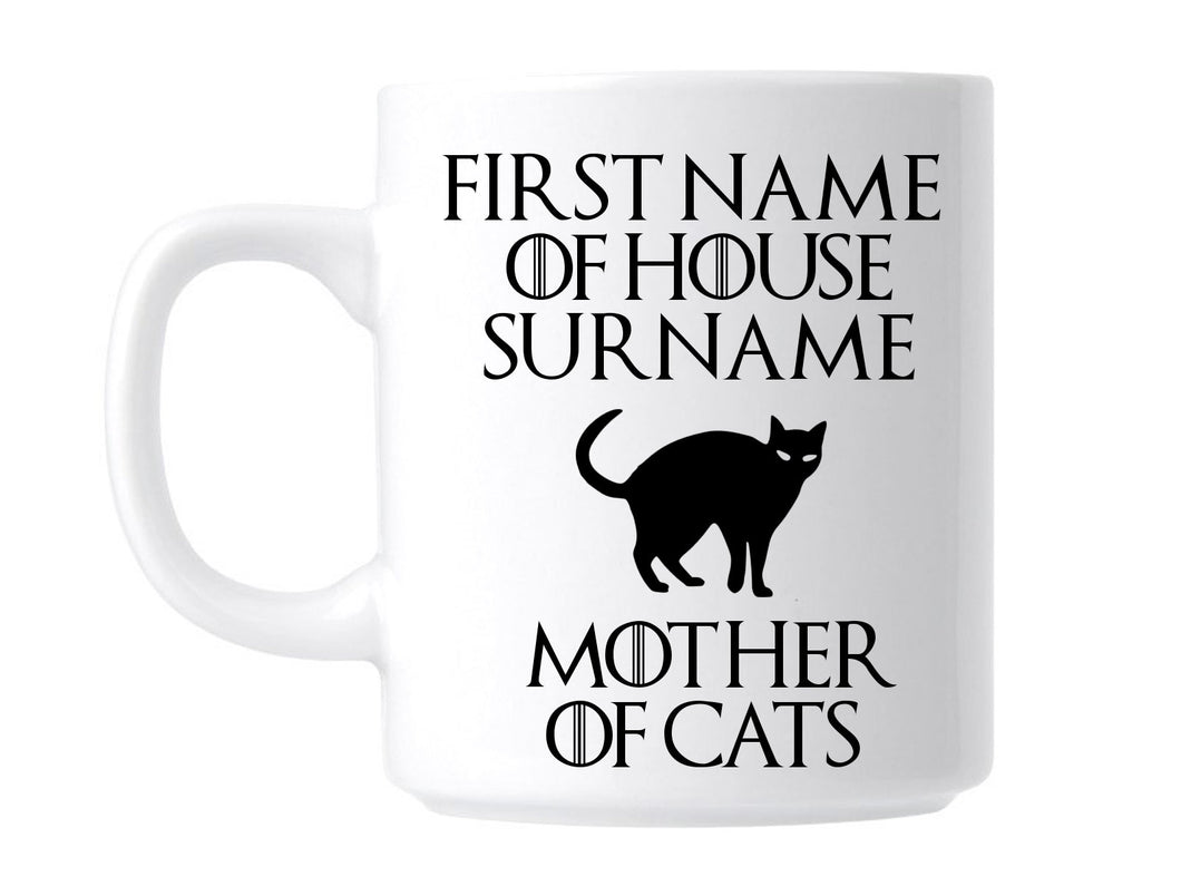 Personalised Game Of Thrones Mother Of Cats Animal Lover Gift Mug