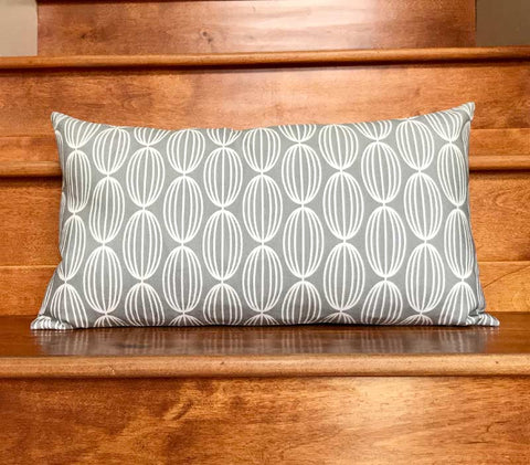 Flapjack Home Nelly Lumbar Throw Pillow - Gray