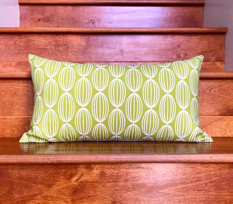 Flapjack Home Nelly Lumbar Throw Pillow - Lime