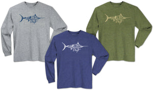 Old Blue Long Sleeve Tee - Hunter - Atlantic Drift