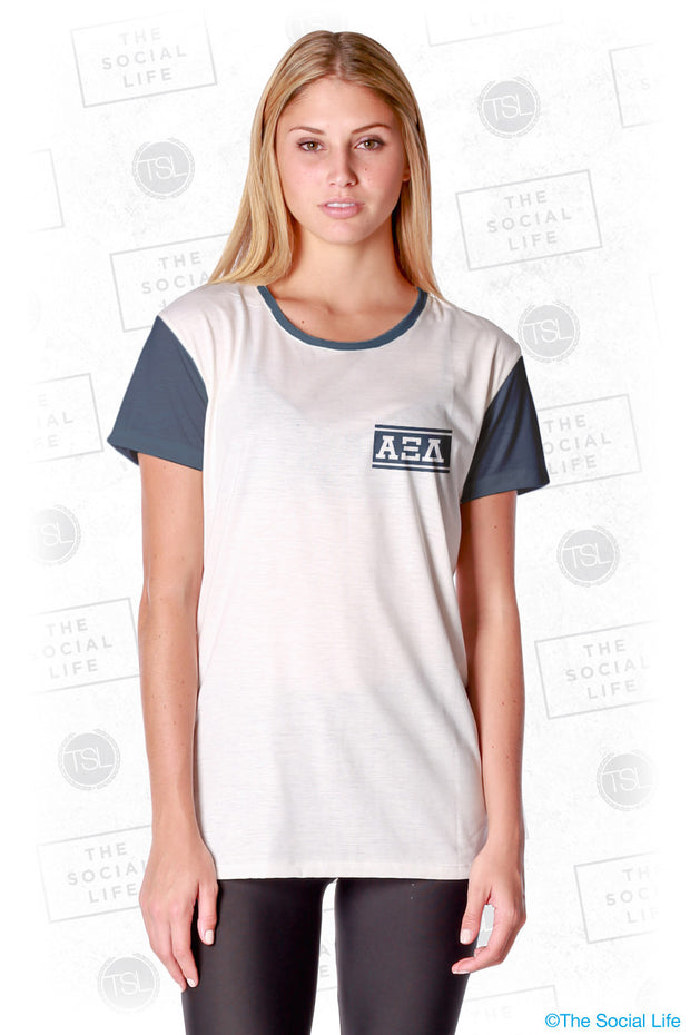 Alpha Xi Delta Hang Loose Scoop Tee