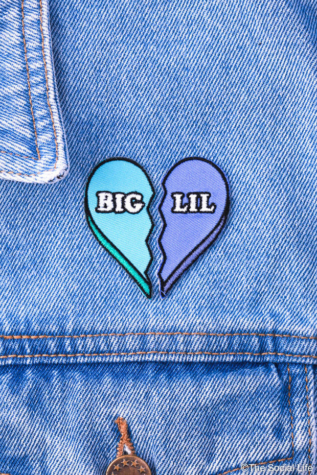 Big/Lil Heart Peel-n-Stick Badge