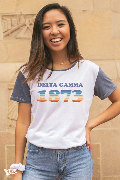 Delta Gamma Boardwalk Scoop Tee