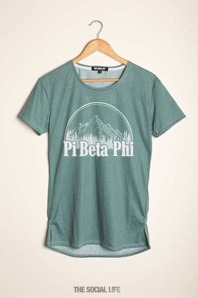 Pi Beta Phi Forest Scoop Tee
