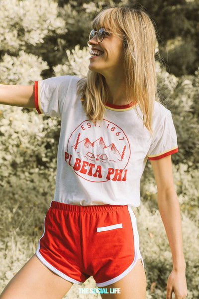 Pi Beta Phi Scout Double Ringer Tee