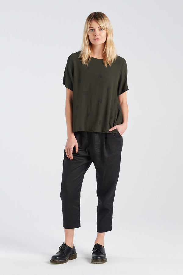 ARC TOP | MOSS SPOT - NYNE - NZ Made Women's Clothing