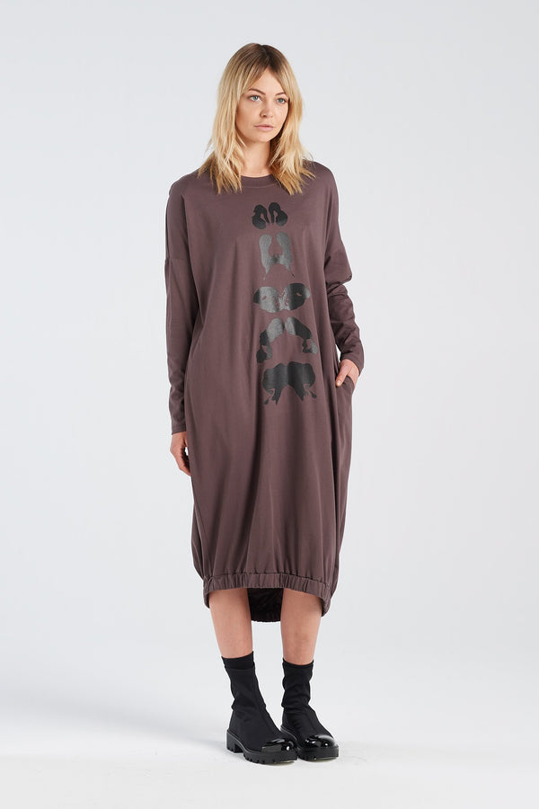 BINET DRESS KLEX | BARK KNIT - NYNE - NZ Made Women's Clothing