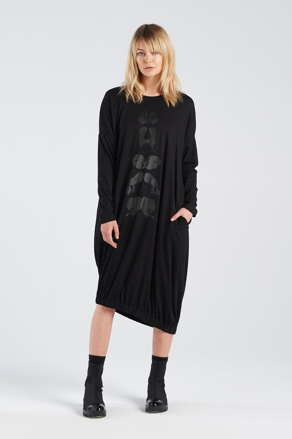 BINET DRESS KLEX | BLACK KNIT - NYNE - NZ Made Women's Clothing
