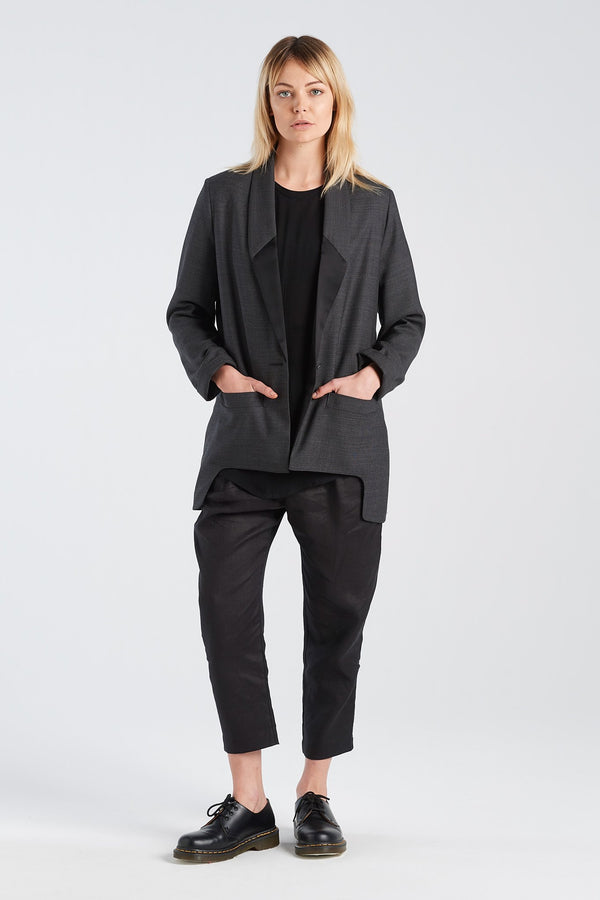 LENNOX PANT | BLACK LINEN - NYNE - NZ Made Women's Clothing