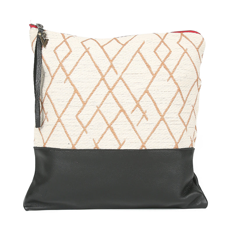 Sunrsise Large Clutch in Black Leather