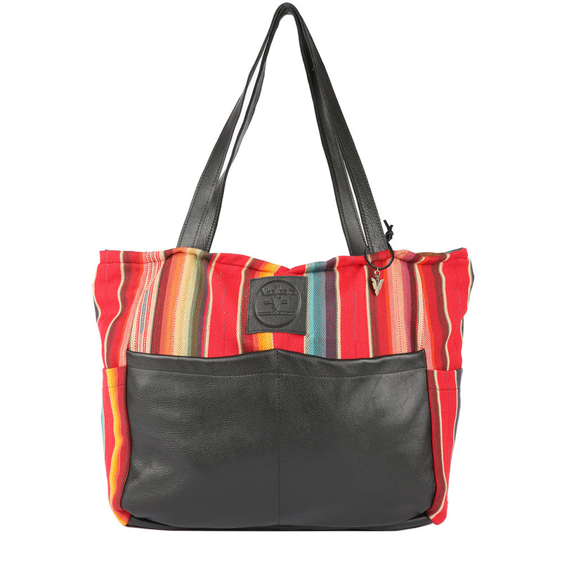 Rosarito Diaper Bag in Black Leather