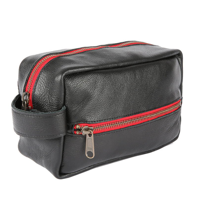 Travel Kit in Black Leather