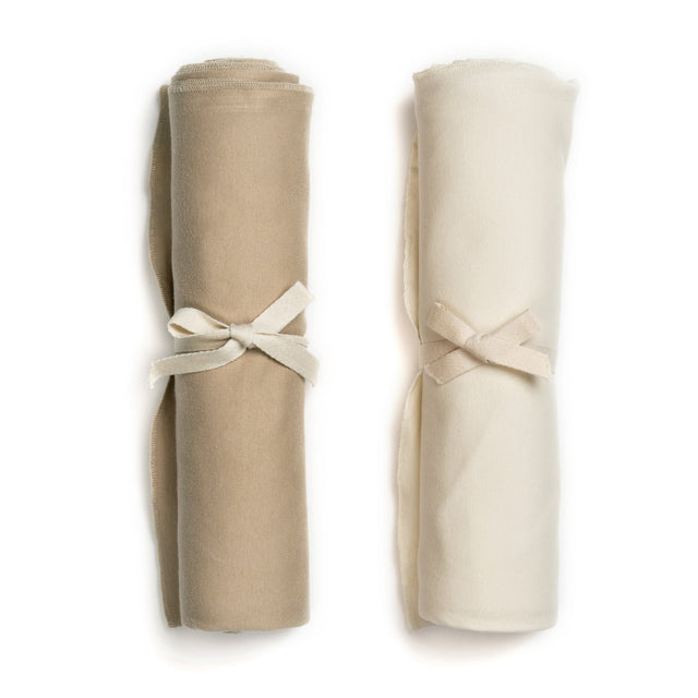Vanilla And Dune Organic Swaddle Blanket Set