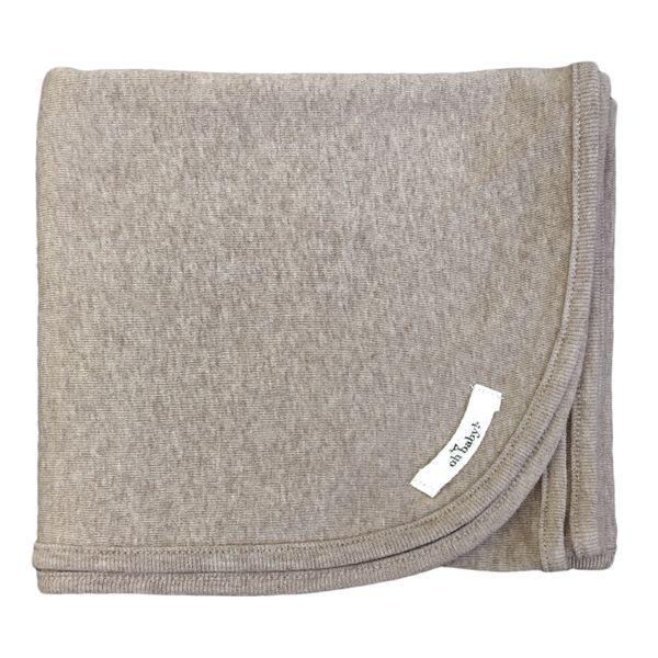 Mushroom Heather Cotton Layette Blanket