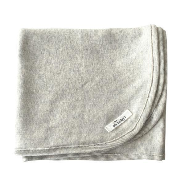 Oatmeal Heather Cotton Layette Blanket