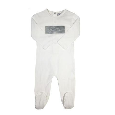 White Fille Cotton Footie
