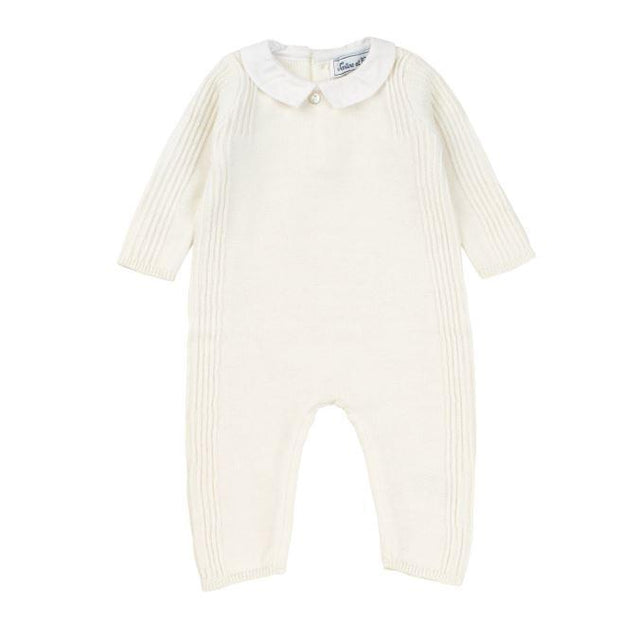 Cream Mother-of-Pearl Knit One Piece