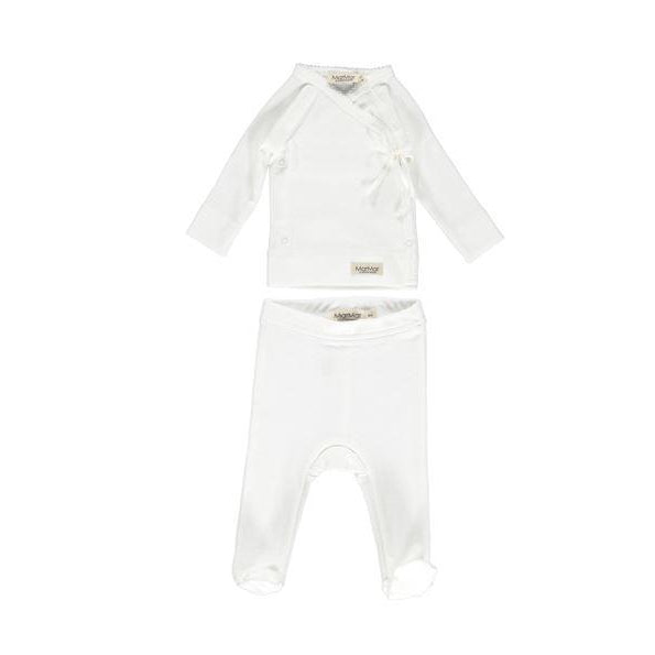 Gentle White Tut Wrap Modal 2 piece Set