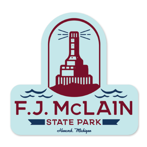 "Sticker - ""F.J. McLain"" 3"" Window Decals"