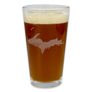 """U.P. Silhouette (Islands)"" 16 oz. Pub Glass"