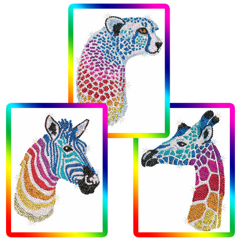 Sequin Art® SPECTRUM, Safari, Sparkling Arts and Crafts Picture Kit
