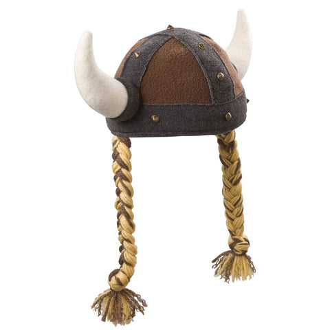 Beasty Buddies Fleece Hat, Viking Girl with Braids