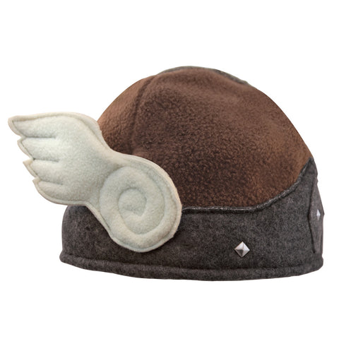 "Beasty Buddies Fleece Hat, Viking Valkyrie Beanie ""Helmet"" with Wings"