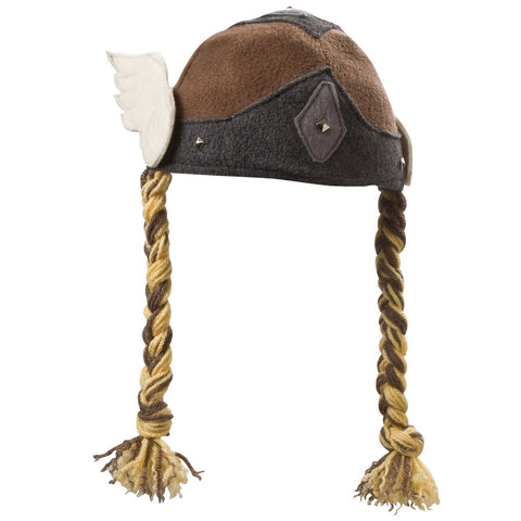 Beasty Buddies Fleece Hat, Viking Valkyrie Girl with Braids