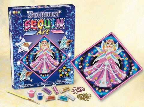 FAIRY PRINCESS Sequin Art® Stardust Sparkling DIY Arts & Crafts Picture Kit with Glitter