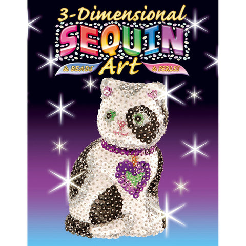 3D Sequin Art CAT Sculpture Sparkling Arts & Crafts Kit