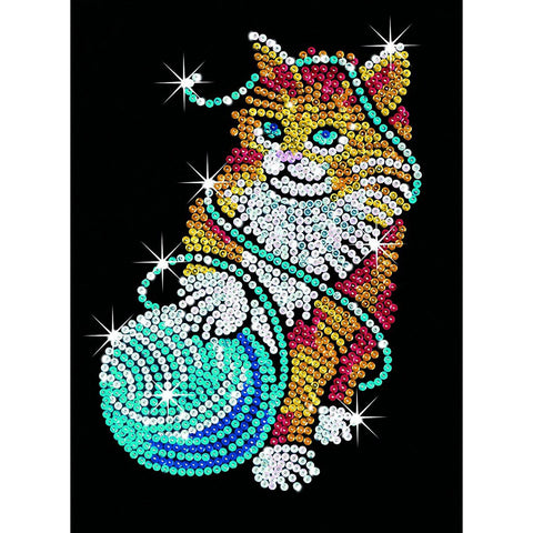 Sequin Art® Blue, Kitten, Sparkling Arts and Crafts Picture Kit