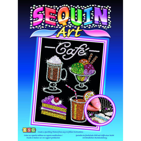 CAFE Sequin Art® Blue Sparkling Arts & Crafts Picture Kit
