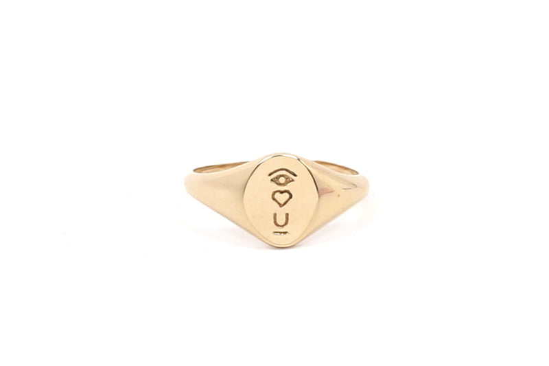 Satellite of Love Signet Ring