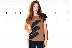 Brown Swipe Tunic
