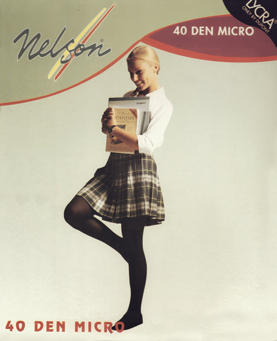 Nelson's Back to School 40 Den Opaque Tights by Tightso