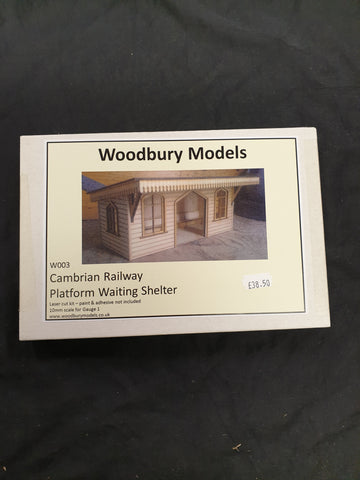 Woodbury Models Gauge 1 Cambrian Railway Platform Shelter