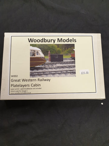 Woodbury Models Gauge 1 GWR Platelayers Cabin