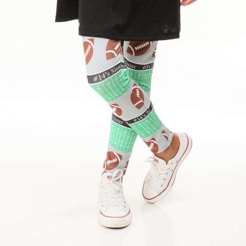 Girls Custom Football Arden Leggings