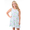 Lighthouse Rose Swing Dress