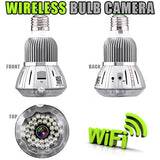 Wireless Bulb Camera for Smartphones and PC - Spy Shop SA