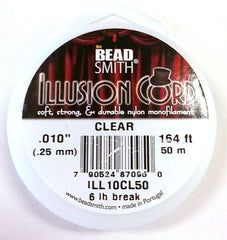 "Illusion Cord Clear .010"" 164ft"