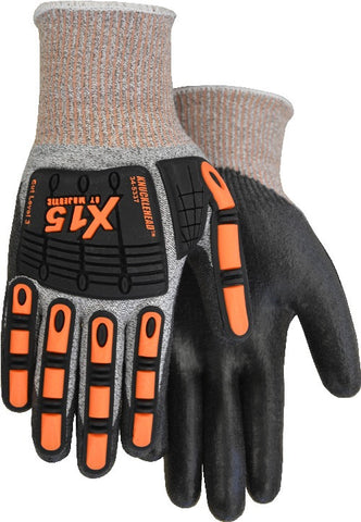 Majestic 34-5337 Cut 3 - Knucklehead Impact Protection Cut Resistant Glove