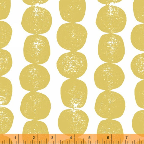 Bergen Pebbles in Yellow - Mormor Collection - Lotta Jansdotter Fabric