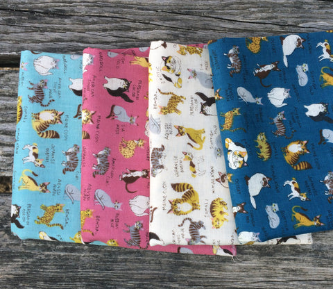 All Kinds of Cats Double Gauze Fabric Bundle