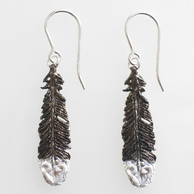 Huia Feather Earrings