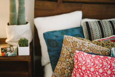 Extraordinary no. 6 Kantha Pillow Cover