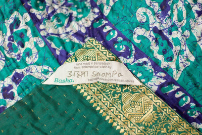 Jaunt Silk Blend Kantha Throw